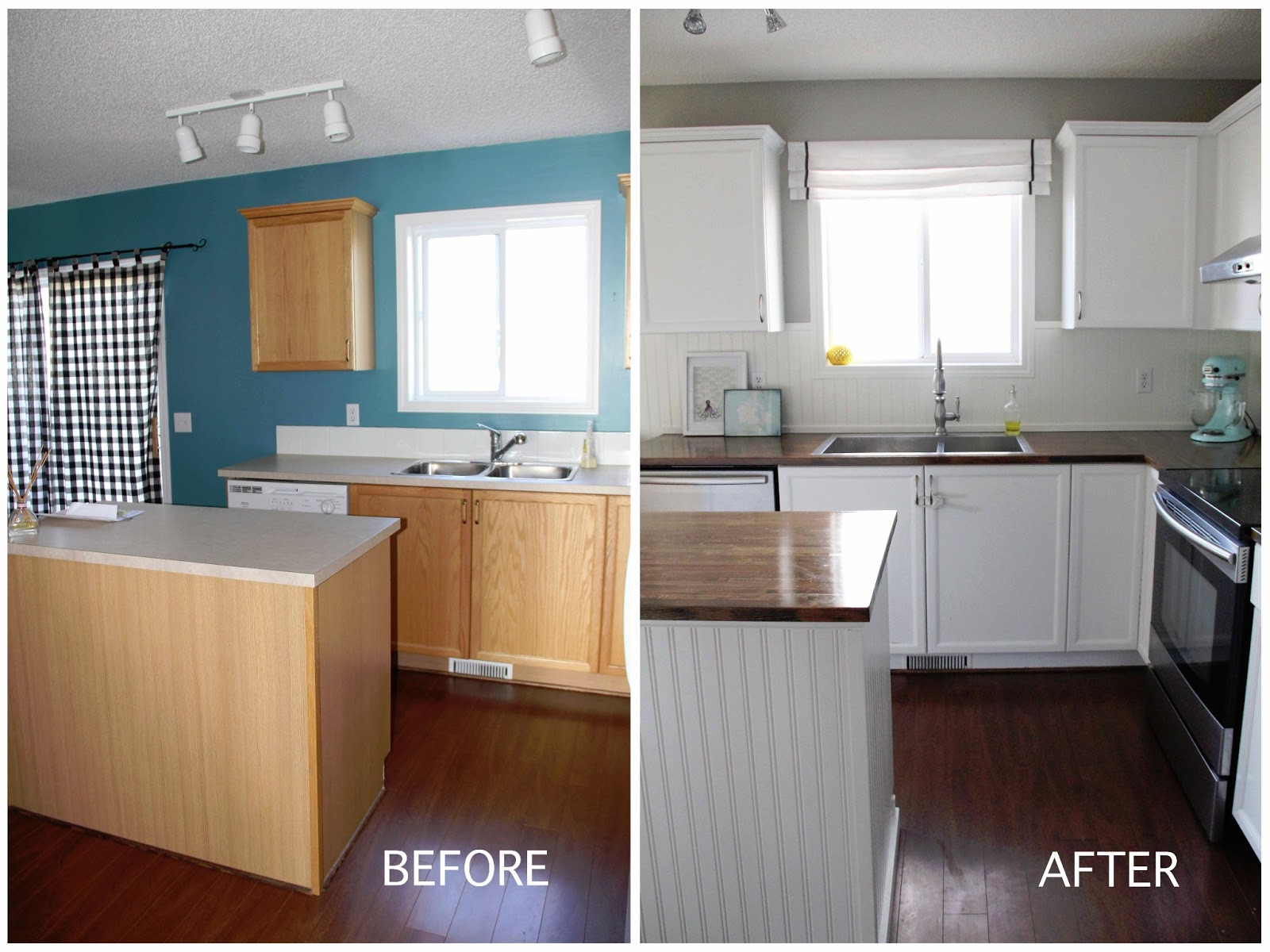 Diy Kitchen Remodel On A Budget bright family kitchen diy under $500 - brooklyn berry designs