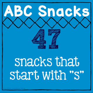 foods start with s, letter of the week s, ideas for preschool snacks