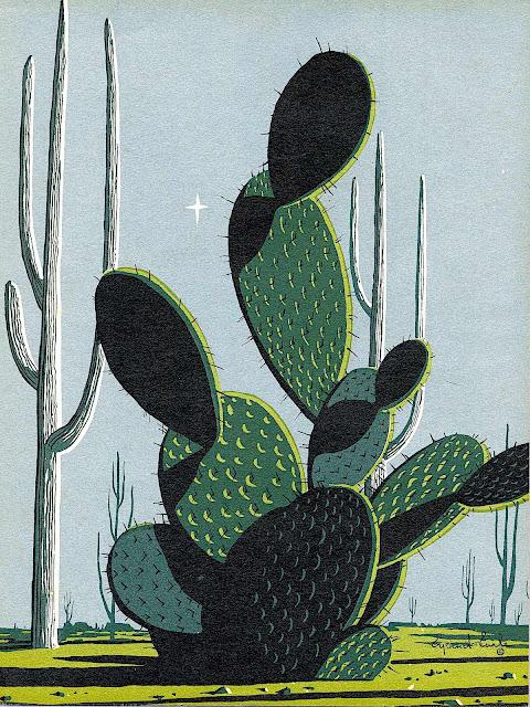 an Eyvind Earle desert cactus