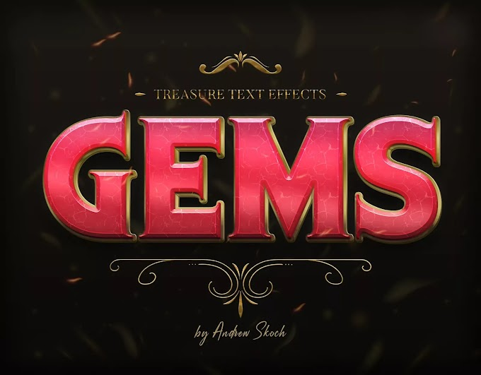GEMS PSD Text Effect