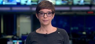 Renata Lo Prete no Jornal da Globo, um dos programas que perderam para o SBT ontem (9)