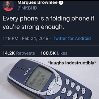 Folding Phone, Nokia 3310 Meme by @memes_for_trollers on Instagram