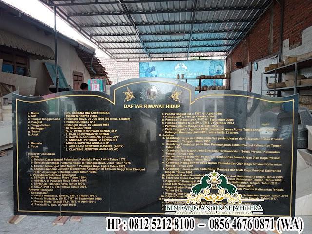 Contoh Bongpay Batu Alam, Nisan Bongpay Granite Berkualitas