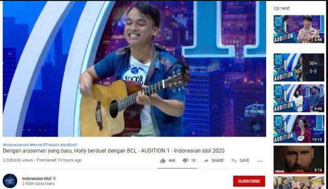 Holly Caesar Indonesan Idol-YTB