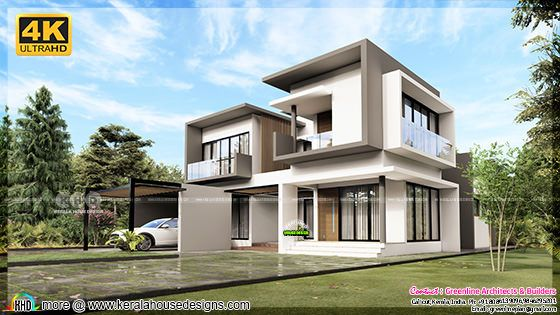 Modern house rendering plan