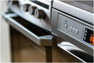 Dishwasher and stove.
