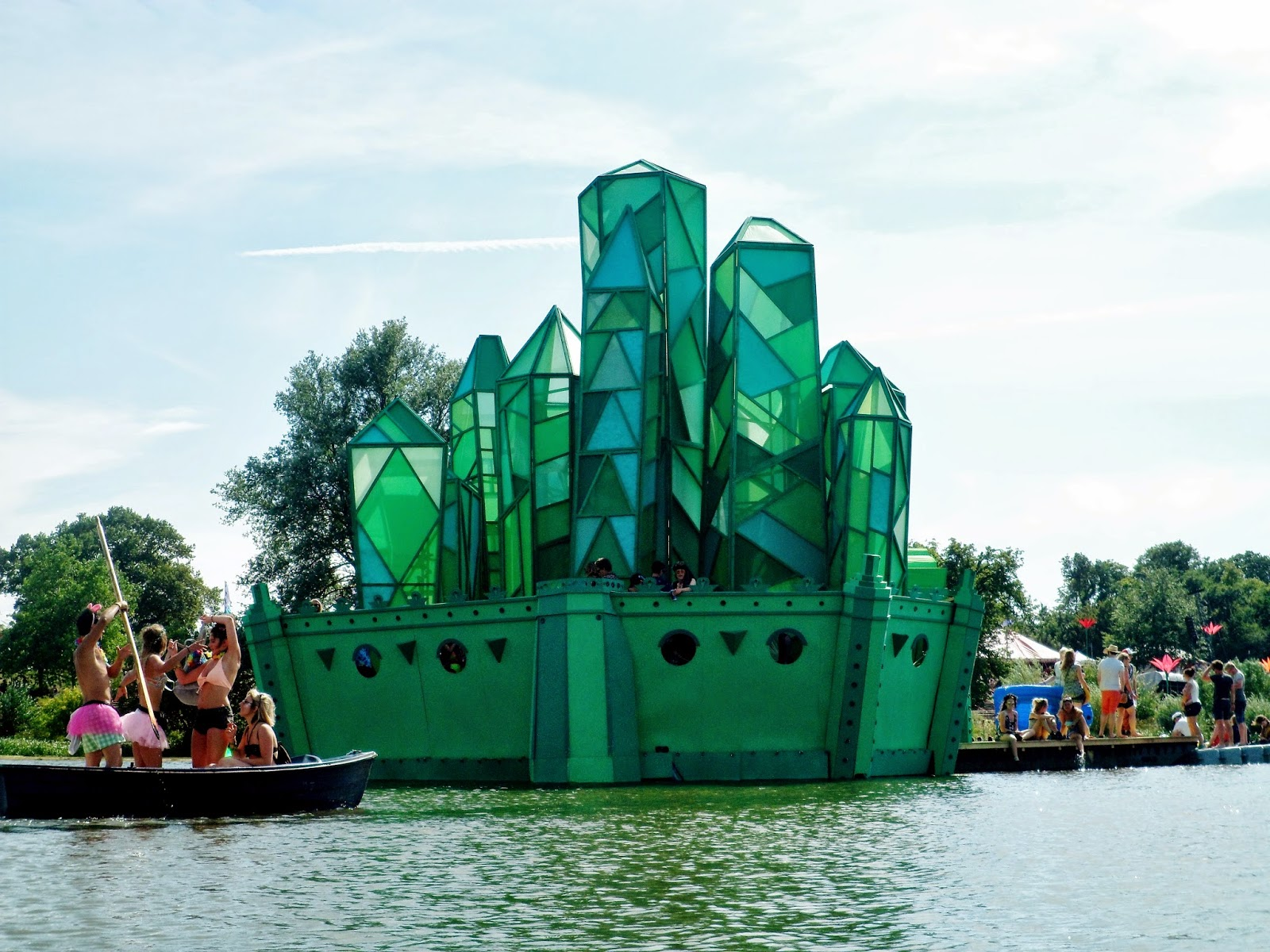 photo of the lake stage secret garden party 2014