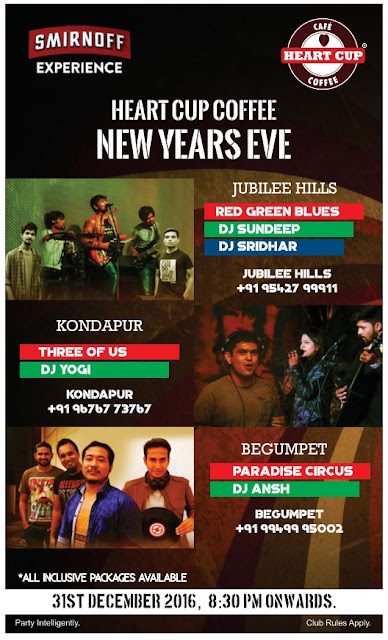 New year events @ Hyderababd | December 2016 Events | Year end parties | pubs |DJ | disco |price