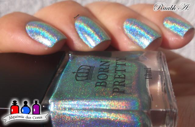 Born Pretty 007 Ocean Kingdom, BP-L 063, Golfinhos, Nail Stamping, Nail Art, Azul, Raabh A., Esmalte Holográfico, Born Pretty Store.
