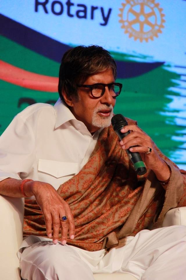Amitabh, Dia Mirza and Neha Dhupia at Rotary Club of Bombay's WOW District Conference 2015