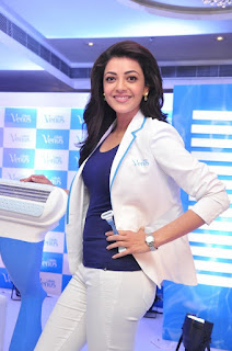 Kajal Aggarwal Stills in Stylish Dress at Womens Gillette Venus Launch Event ~ Celebs Next