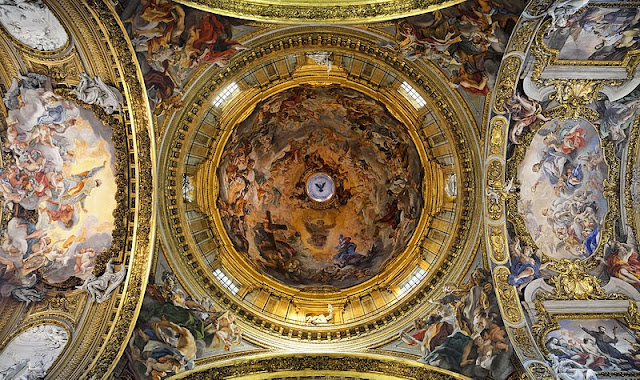 Cupola frescoes of the Gesù by Gaulli_psartworks.in