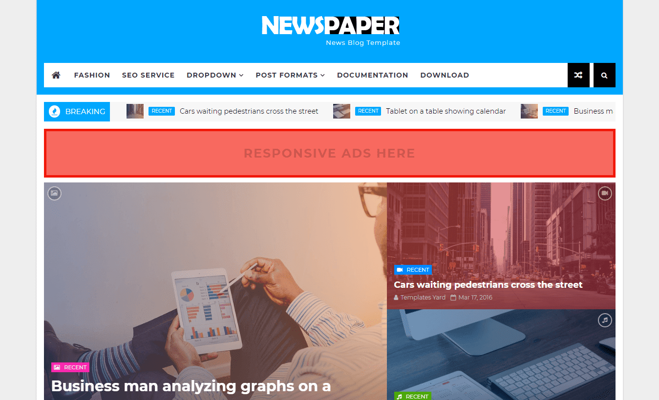 How To Setup Newspaper Blogger Template Templatesyard Sora