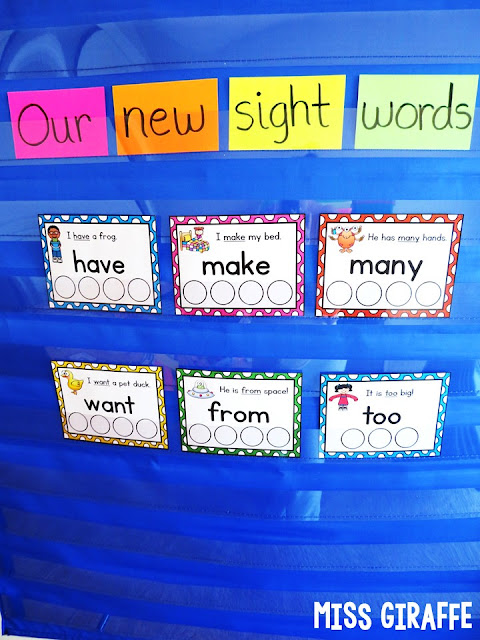 How to introduce new sight words in a fun way with picture support for your struggling readers.. and fun for everyone!