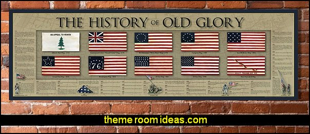 The History of Old Glory Print  American Flag Timeline