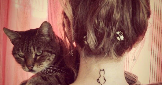 Amazing remarkable cute cat tattoos