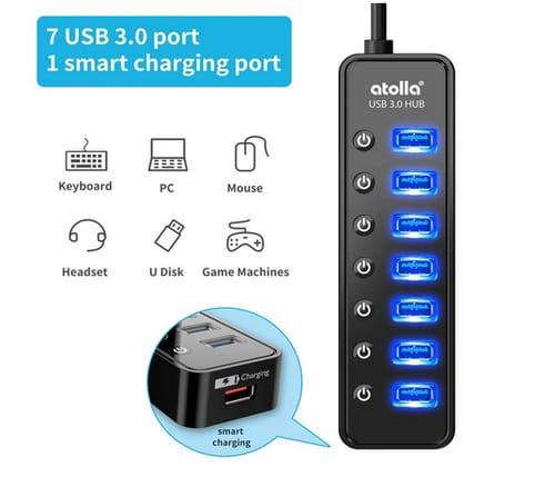 Atolla 7-Port USB Data Hub 3.0 Splitter