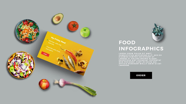 Food Infographic Scene Creator in Free PowerPoint Template Slide 3