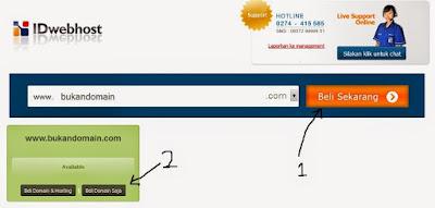 cara membeli domain di idwebhost