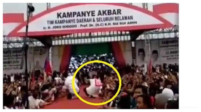 Detik-detik Iriana Jokowi Jatuh Terjengkang di Atas Panggung hingga Buat Paspampres Berlarian