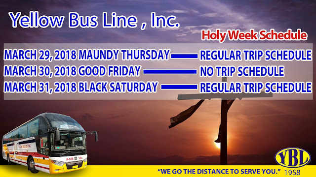 Yellow Bus releases Holy Week Schedule