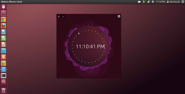 ubuntu phone clock