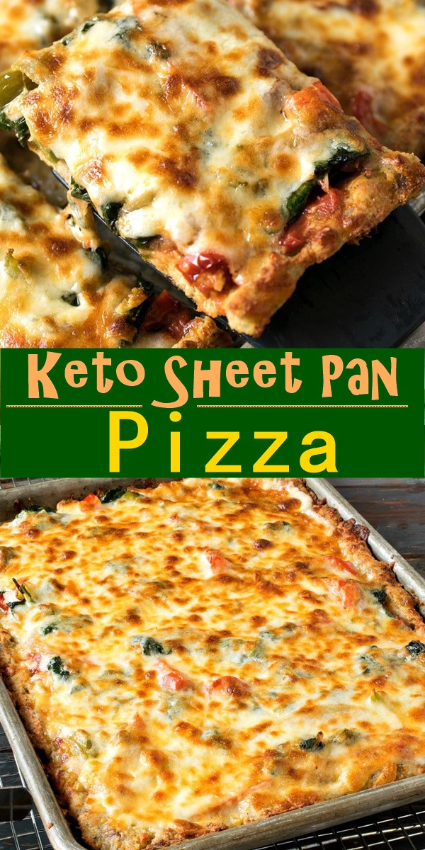 Keto Sheet Pan Pizza #Pizzarecipes