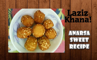 Anarsa Sweet Recipe in Roman English - Anarsa Sweet Banane ka Tarika