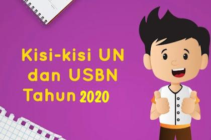 Download Kisi-Kisi UN Dan USBN Tahun 2020 Mapel Matematika Jenjang SD Atau MI