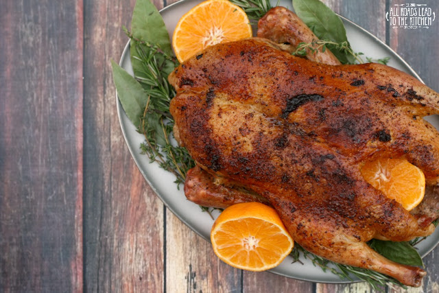 Whole Roasted Duck with Oranges and Herbs