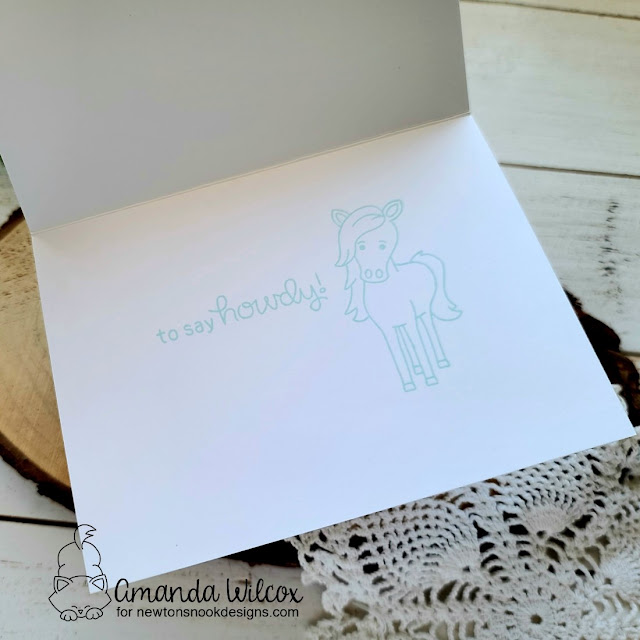 Galloping By Card by Amanda Wilcox | Neigh Stamp Set by Newton's Nook Designs #newtonsnook #handmade