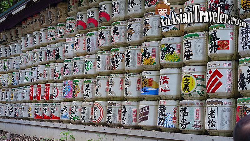 Barrels of Sake @ Meiji Jingu