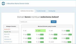 Cara Membeli dan Memasang Domain untuk Blogspot di RumahWeb Mudah dan Lengkap