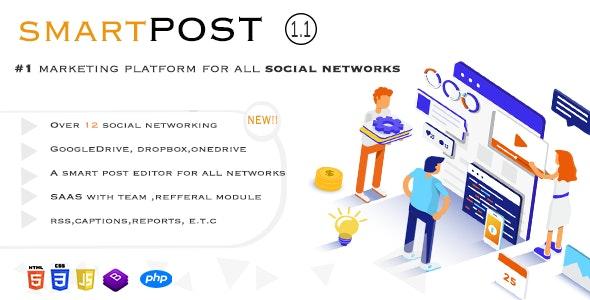 Smart Post php script-Social Marketing Tool