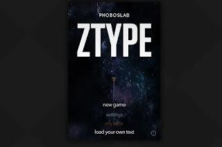 لعبة Ztype الكتابة