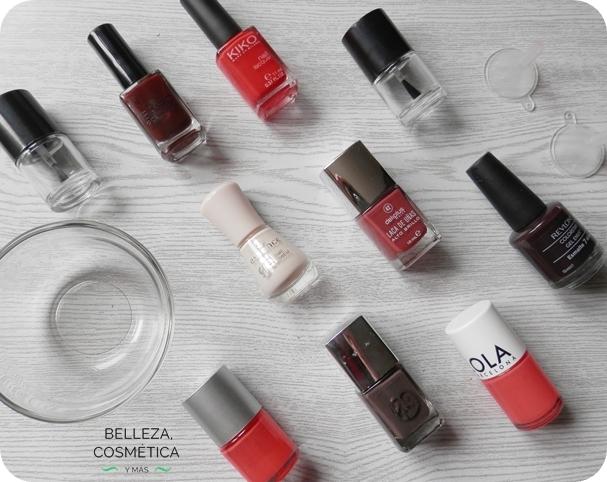 mezclar esmaltes de uñas