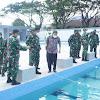 Wakasal Tinjau Fasilitas Satdik 2 TNI AL Di Mako Lantamal VI