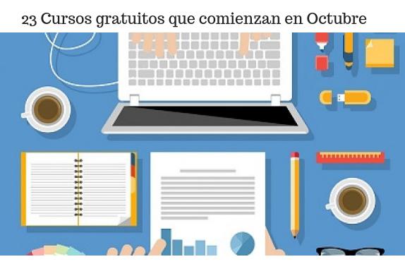Cursos, formación, aprendizaje, octubre, gratis,