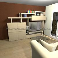 Il soggiorno senza complementi d'arredo