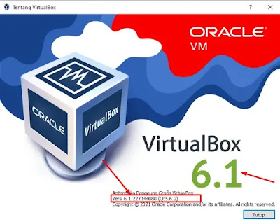 Cek Versi Virtualbox