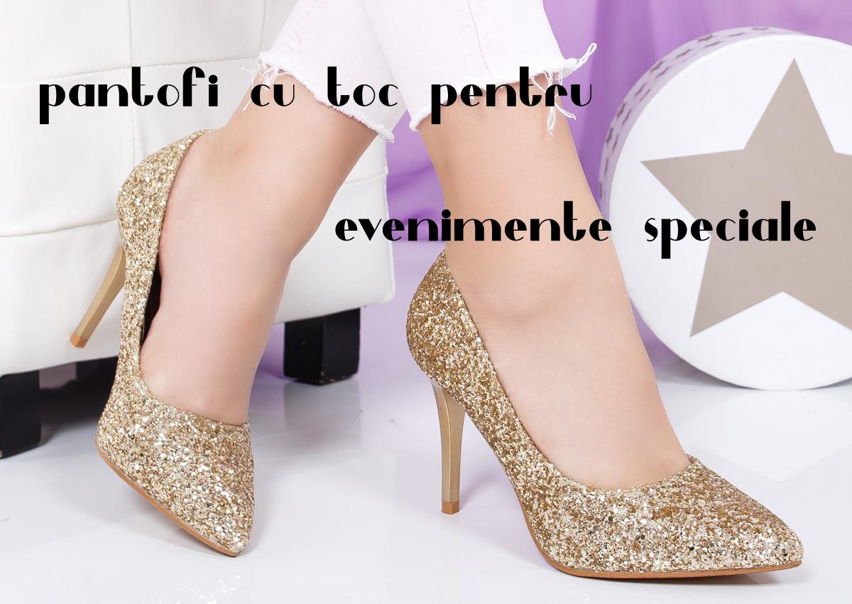 Pantofi dama cu toc inalt pentru evenimente speciale din 2019
