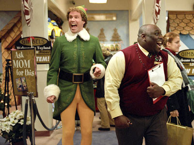 Will Farrell laughing on set of Elf 2003