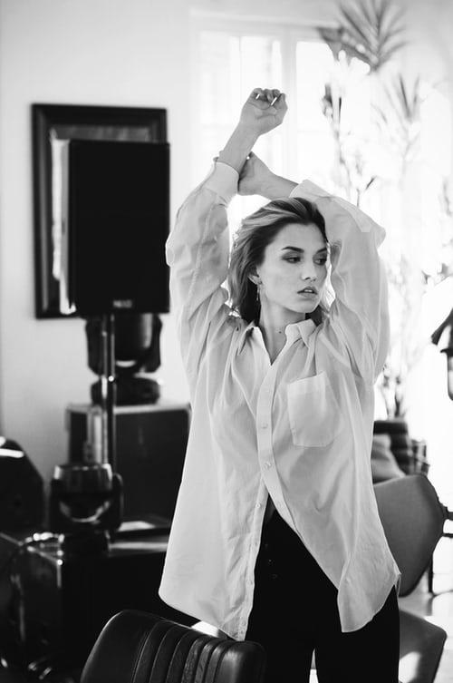 female model portrait pose