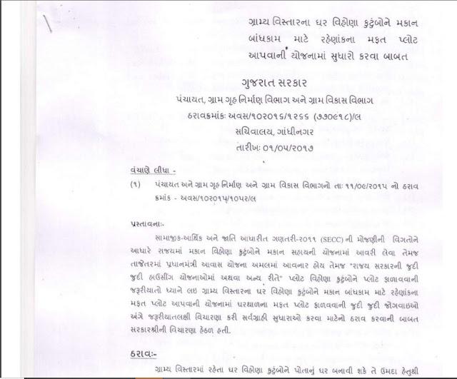 100 Choras Var Mafat Plot Yojna By Panchayat Department