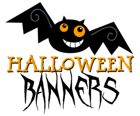 please scroll down and click on the bat shaped buttons to see and download the free printable halloween banners