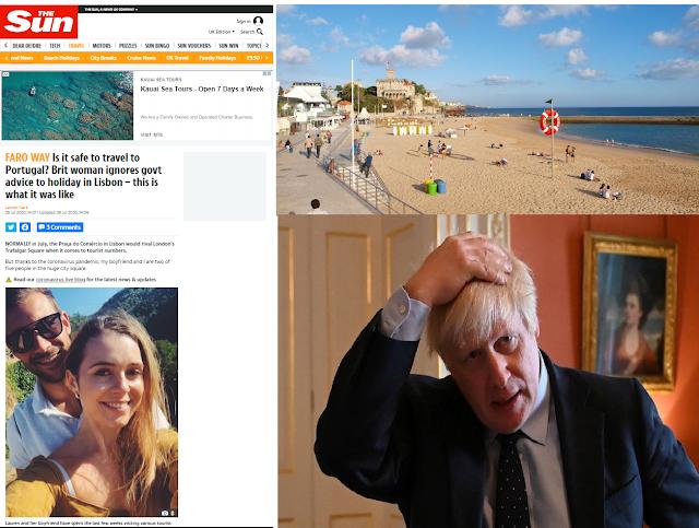 """COVID19. Jovem inglesa """"desafia"""" Boris e faz """"férias de sonho"""" em Portugal com mergulhos no Tamariz"""