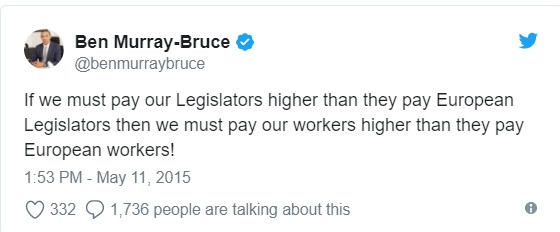 Senators' salary: I was resisted by my colleagues when I advocated for lower wages - Ben Bruce
