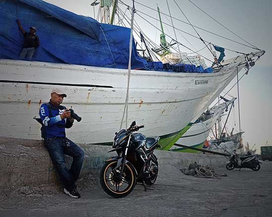 Tilang sepeda motor polisi