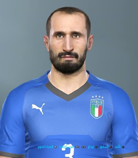 PES 2019 Faces Giorgio Chiellini by Shenawy