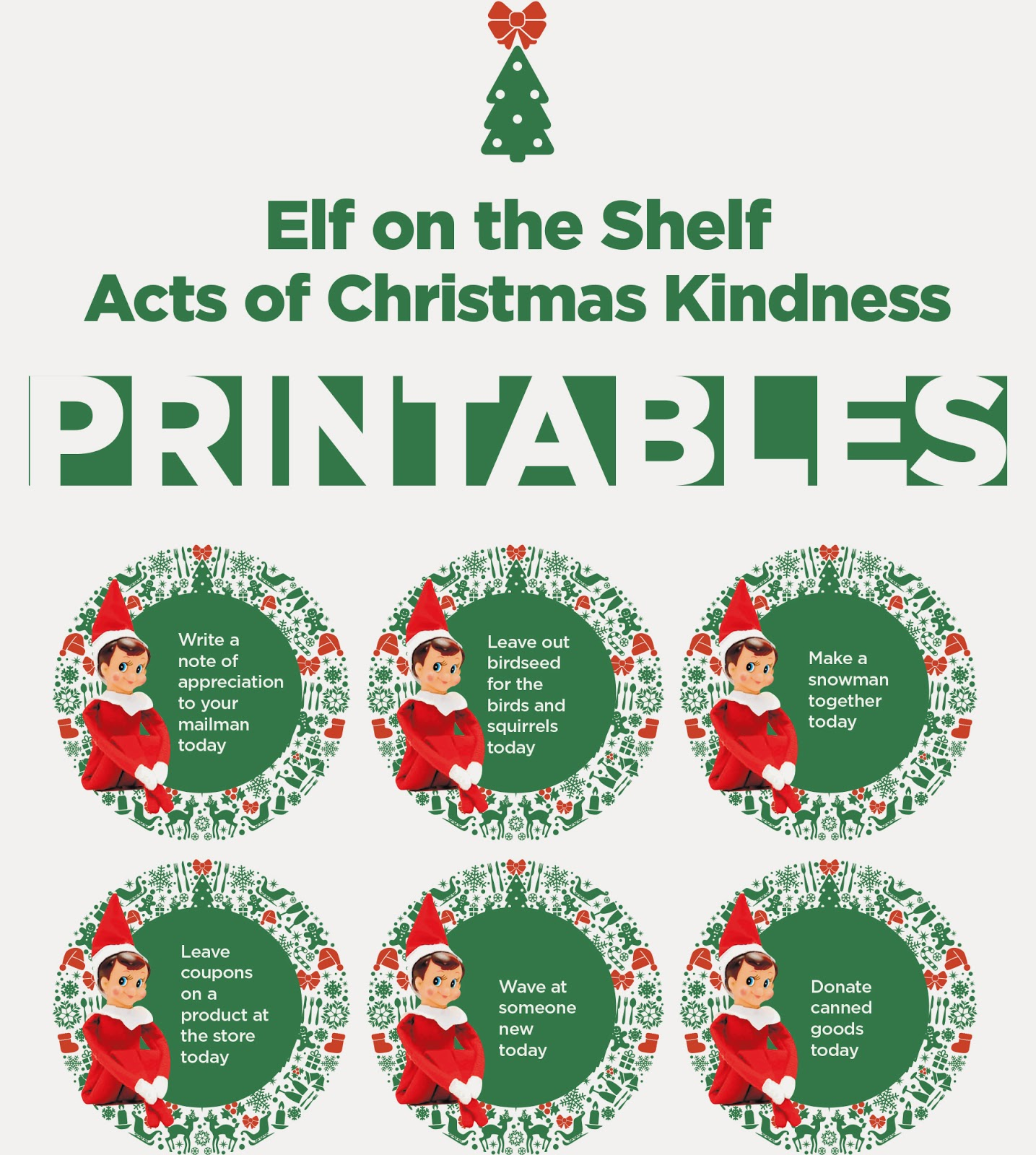 Acts of kindness for your Elf on a Shelf